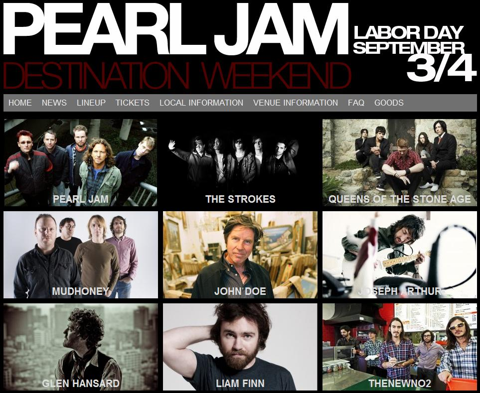 f9f96d1ad7 Pearl Jam 20 Destination Weekend ~ In ...
