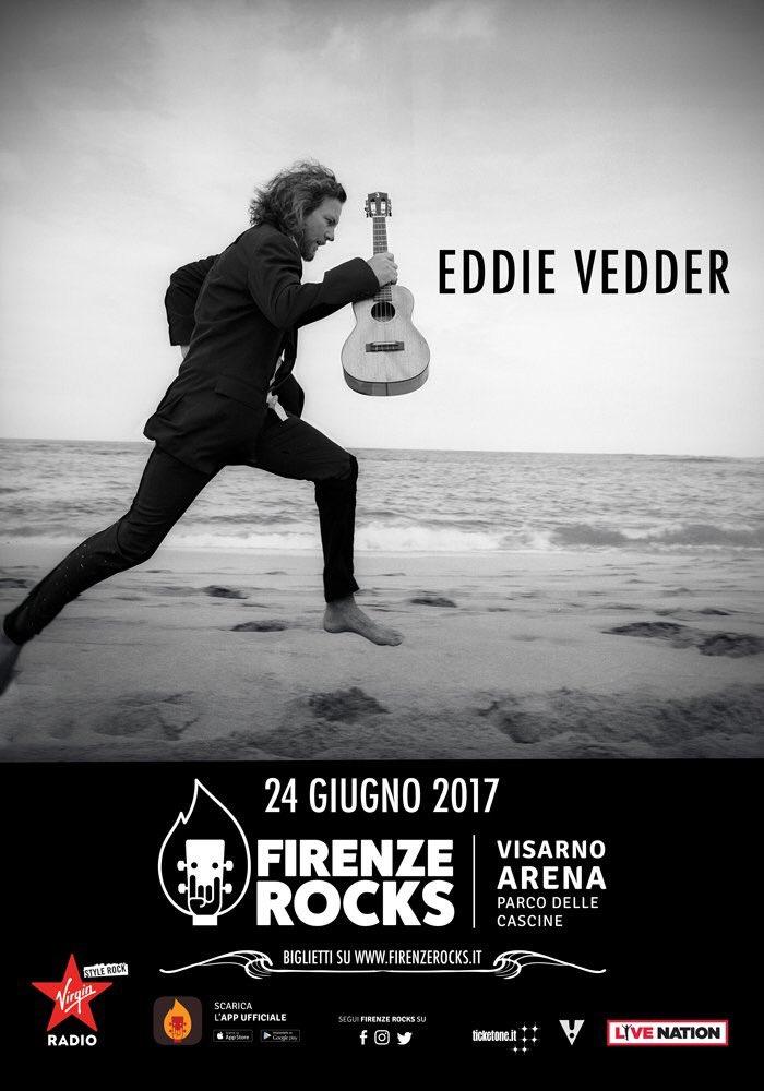 Eddie Vedder live in Florence on June 24