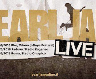 PEARL JAM – ITALIA 2018
