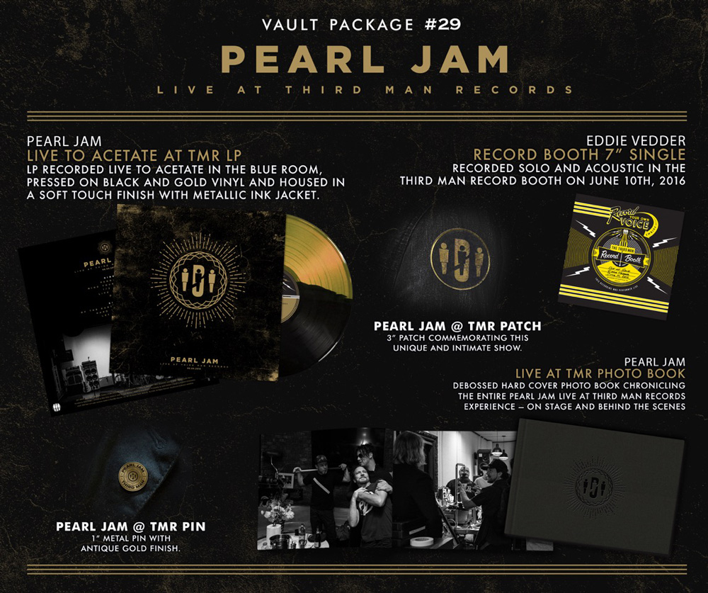 Live at Third Man Records, Vault #6, and No Code/Yield vinyl reissues