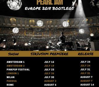 Pearl Jam: Bootleg Ufficiali del Tour Europeo 2018