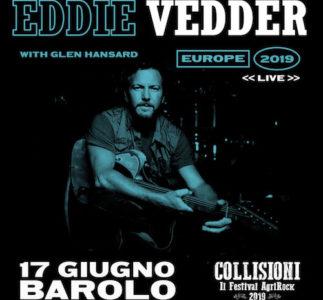 Eddie Vedder dal vivo al Collisioni Festival di Barolo
