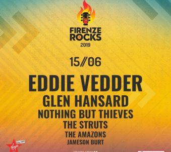 Eddie Vedder dal vivo al Firenze Rocks 2019