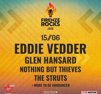 Eddie Vedder al Firenze Rocks: aggiunti Nothing But Thieves e The Struts alla line up del 15 giugno