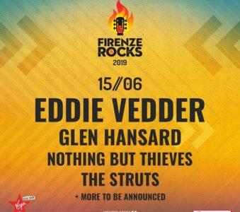 Eddie Vedder al Firenze Rocks: aggiunti Nothing But Thieves e The Struts alla line up del 15 giugno