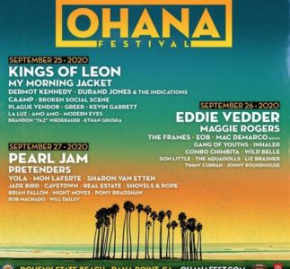 Eddie Vedder, i Pearl Jam e i Kings Of Leon sono gli headliner dell'Ohana Fest 2020