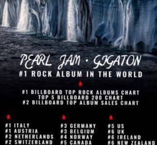 Pearl Jam: Gigaton al numero uno in diverse nazioni