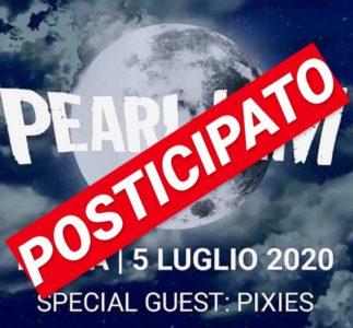 Il concerto dei Pearl Jam a Imola è posticipato al 2021
