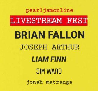 PearlJamOnline Livestream Fest con Brian Fallon, Joseph Arthur e tanti altri