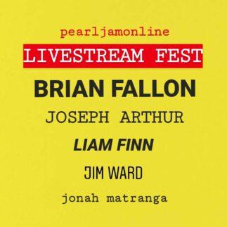 Pearl Jam Online Livestream Fest with Brian Fallon, Joseph Arthur and many more