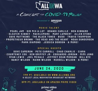 Pearl Jam stasera al benefit All In WA: A Concert for COVID Relief