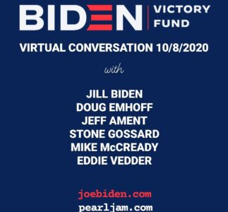 Pearl Jam: a video conference with Jill Biden and Doug Emhoff