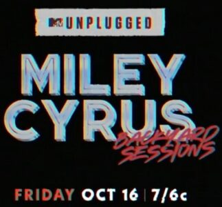Miley Cyrus played Pearl Jam cover during MTV Unplugged Backyard Sessions
