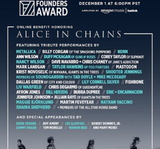 Eddie Vedder, Jeff Ament, Mike McCready & Matt Cameron will be among the many artists celebrating Alice In Chains